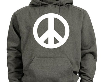 Peace sign hoodie peace symbol sweatshirt