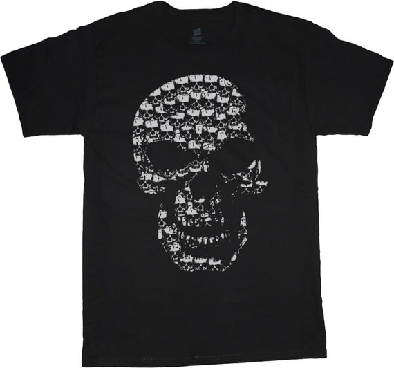 Big and tall tee skull made of skulls t shirt for Design your own t shirt big and tall