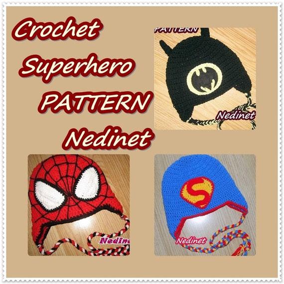 Crochet Superhero Hat Pattern Crochet Hat Pattern Boy Hat Pattern
