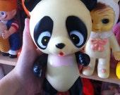 Cute vintage squeaky Cutie Panda / made in Japan 60s-70s