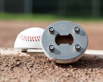The Baseball Opener - A Bottle Opener made from a REAL Baseball