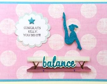 Personalized Gymnastics Card-For Birthdays-End Of Season Achievement-Birthday Or Thank You Coach.