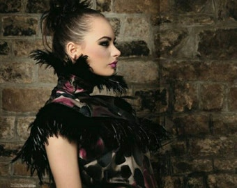 One Of A Kind Evening Dress And Feather Collar