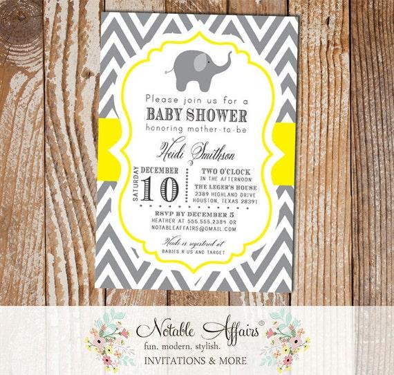 Dark Gray Charcoal And Yellow Mustard Chevron Elephant Modern Baby