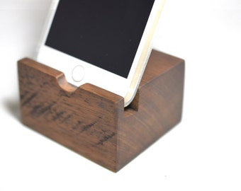 Iphone dock Wooden dock for iphone 6 or iphone 7 plus wood dock charging dock for iphone wooden stand