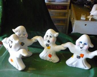 4 Hand n Hand Ghosts  Handpainted