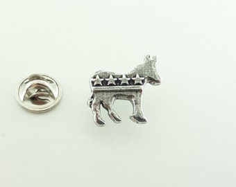 Pewter ~ Democrat Donkey ~ Mini-Pin ~ A1032MP