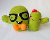 Cactus couple plush plant toys