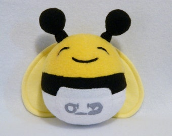 Baby bee plush toy with diaper