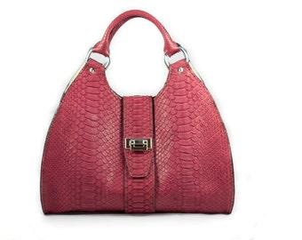 Genuine Python Handbags / Luxury Bags /  Exotci Bags / Top Handles Bags