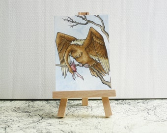 Fearow ACEO/ATC Miniature - Watercolour Pokémon Painting - Original Art