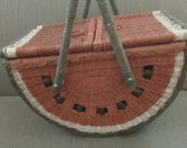 Reserved for Margaret Vintage Melon Picnic Basket