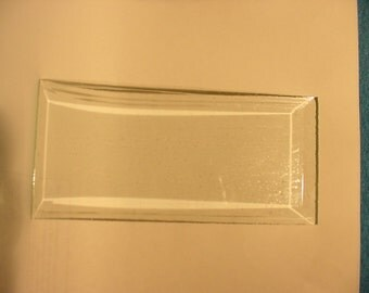 Beveled Glass Panels 6-3/4in x 3-1/8in