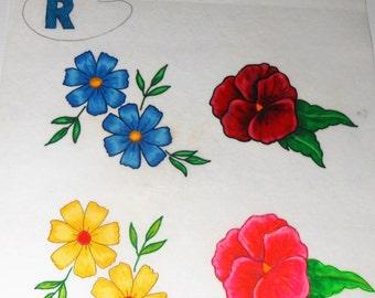 Vintage Artex, Painting, Flowers, Felt, Liquid Embroidery, Craft Supplies, Tri Chem, Poster, Retro Wall Art, Floral Decor