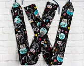 Cat Sugar Skull Weightlifting Wrist Wraps - Kitty Calaveras Cute WOD XFit CrossFitness Oly Olympic Lifting Wristwraps