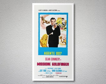 Missione Goldfinger, 007 James Bond, Sean Connery Movie Poster - Poster Paper, Sticker or Canvas Print