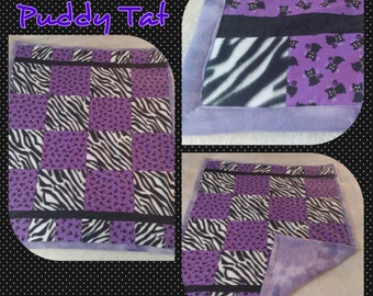 Purple Puddy Tat Baby Quilt