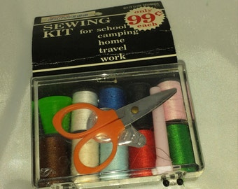 Sewing kit from the 1970's