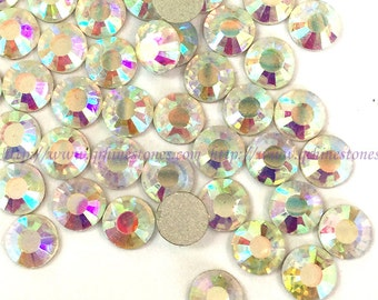 1440pc flat back rhinestone crystal Aurore boreale white ss6 2mm No Hotfix