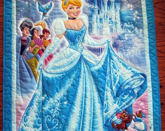 Cinderella quilt, Evil Step-Mother, Step-Sister, Wall Hanging, Lap Quilt, Wall Hanging, (B-80) Disney