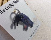 "Metal Stamped Pig ""FFA"" Great for Gift Farm Ranch Charm Pendant"