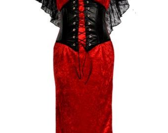 Gothic. Goth. Vampire. Corset Dress. Gown. Vintage