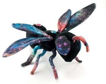 Galaxy Bee Stuffed Animal Poseable Art Doll Unique Plushie