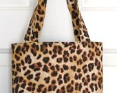 Leopard Mini Tote Bag / Girls Purse Bag Ready to Ship