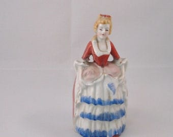 Porcelain Call Bell, Female Figurine . Valentine Gift, Mothers Day Gift,  Housewarming Gift, Get Well Gift