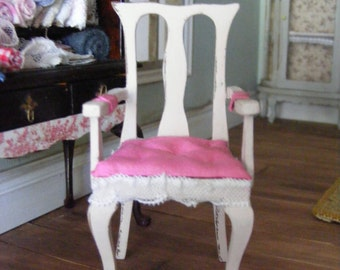 Shabby chic chair 1:12th scale