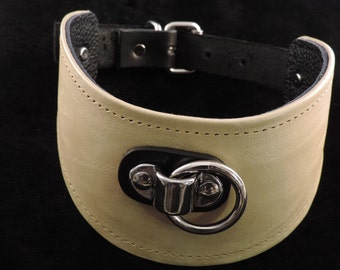 Yellow Leather Posture-Style Collar