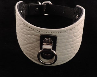 White Bull Leather Posture-Style Collar