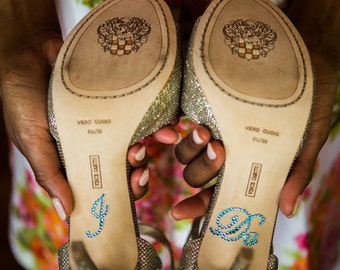 I Do Shoe Decals, Wedding, Something Blue or Clear Rhinestone, Shoe Sticker, Fun Photo Op, Easy to Apply