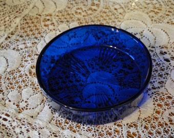 Cobalt Blue Trinket Dish