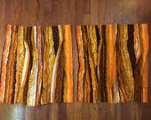 Bark cloth curtains Mid Century Tiki Bar Hawaiian Polynesian