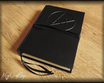 Diary Book of shadows PENTACLE - 500 ivory pages  - medium size 22x16 cm ( 8,27x6,3 inch )