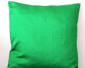 Green Pillow Cover Green Cushion Cover Bright Green Pillow Solid Pillow Green Throw Pillow Decorative Pillow Accent Pillow 16x16 pillow