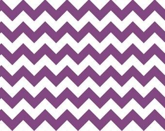 Small Chevron in Purple by Riley Blake