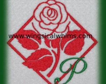 Alphabet Rose Monogram  Font PES Machine Embroidery File ONLY  Letters Alphabet