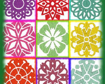 Mandala Set of 9 Machine Embroidery Design