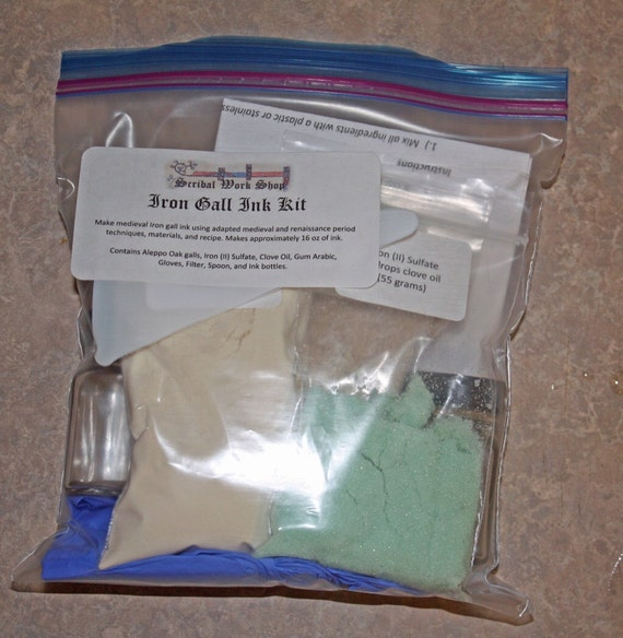 Iron Gall Ink Kit - DIY
