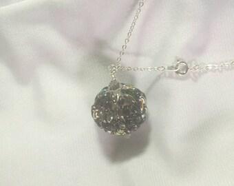 Amethyst Vitrail Beaded Ball Necklace