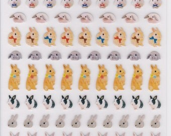 Rabbit Photo Petite Mark Stickers  (46180)