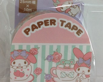Sanrio Original My Melody Stripe Paper Tape Masking Tape Wide Tape  (826464)
