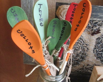 Garden stakes - wooden garden markers