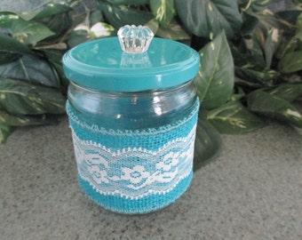Decorated Storage jar, 16 oz size