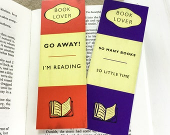 Book Lover Bookmark set - Gift for Readers and Book Lovers- Book Mark  - Book Cover Bookmarks - Quotes - Unique bookmark set