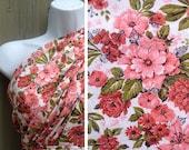 Vintage fabric | Destash sale rose print oversized floral cotton