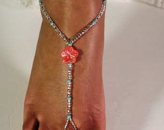 Barefoot Sandals Pearl Wedding Jewelry Cotal Beach Wedding Bridal Jewelry