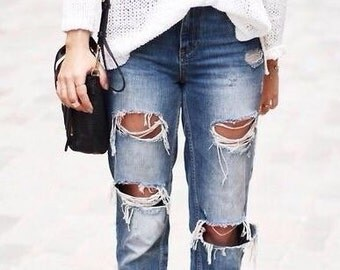 Denim Distressed jeans /mid to high waist shorts/jeans/beach/plus size/S-XXL/All Brands/levis lee wrangler